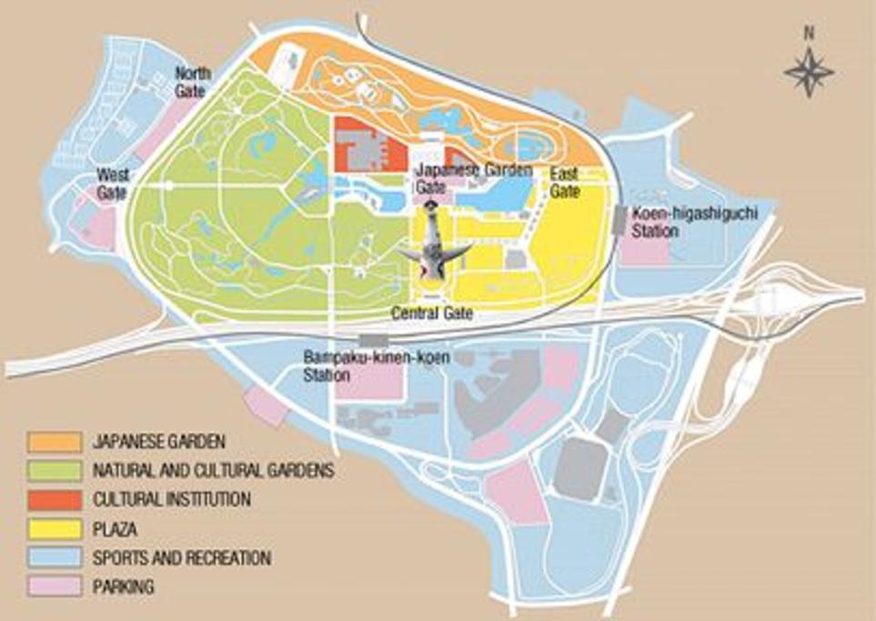 万博纪念公园旅游导图