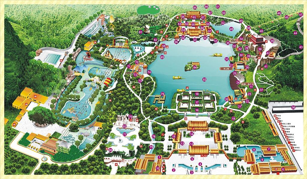 圆明新园旅游导图