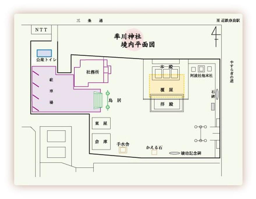 率川神社旅游导图