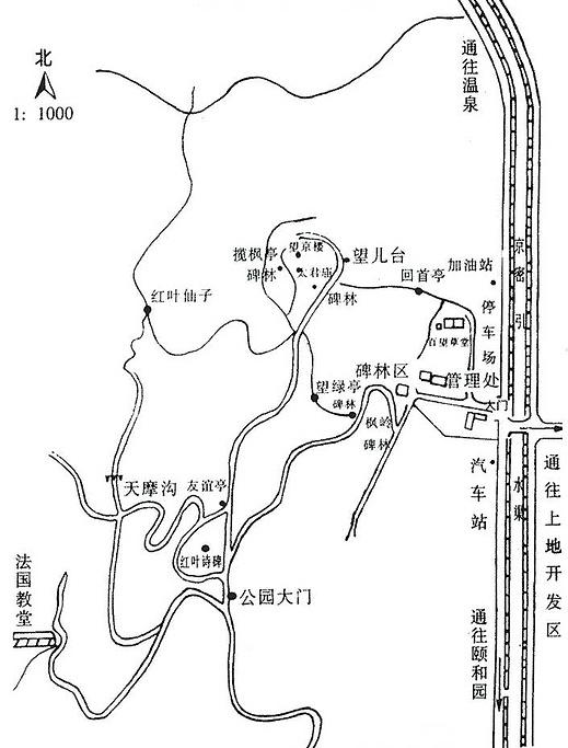百望山森林公园旅游导图