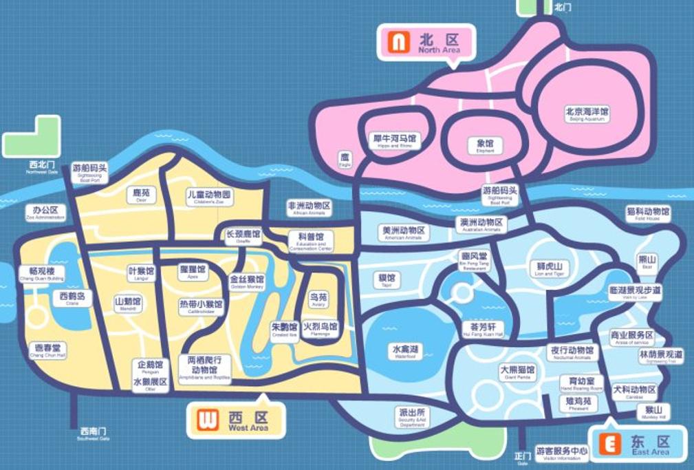 北京动物园旅游导图