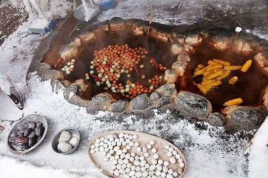 温泉鸡蛋小摊旅游景点图片