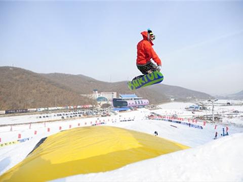 新立湖滑雪场的图片