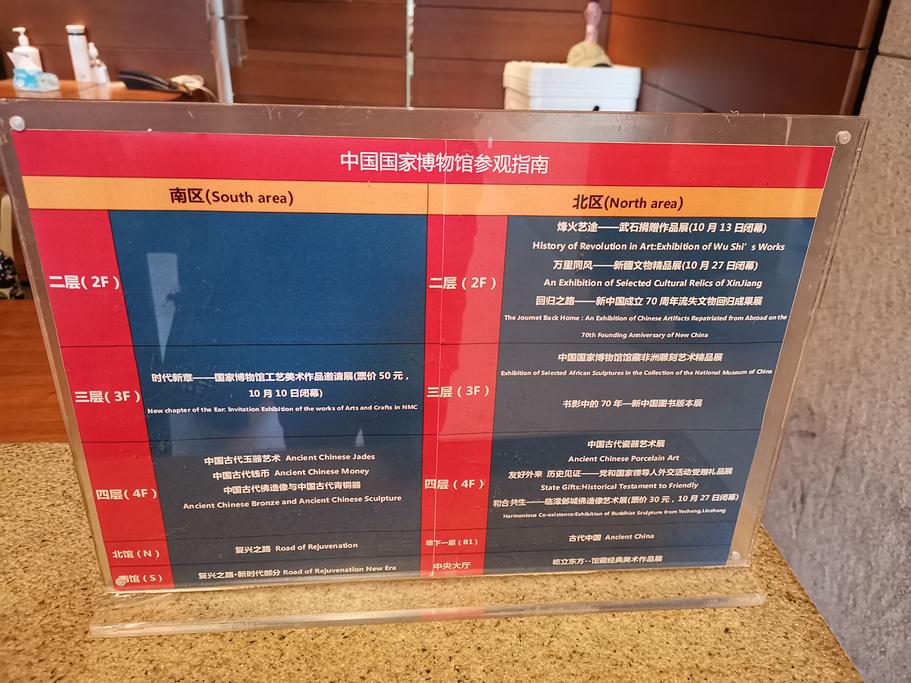 中国国家博物馆旅游导图