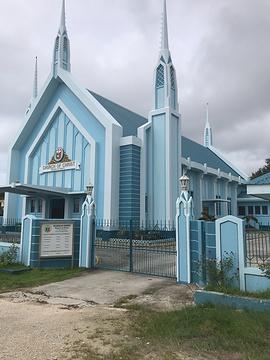 蓝色教堂的图片