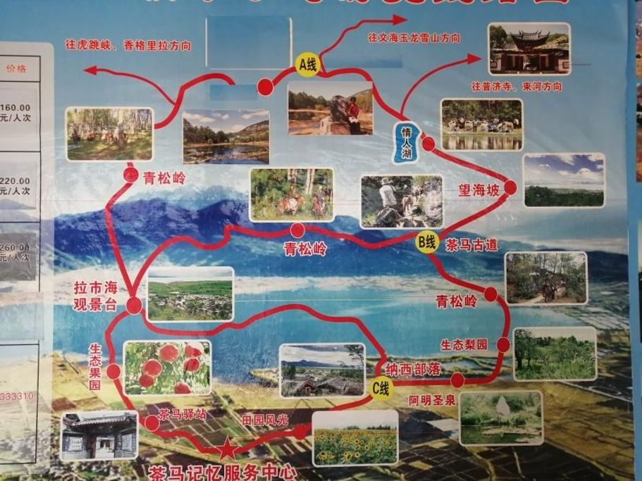 茶马古道旅游导图