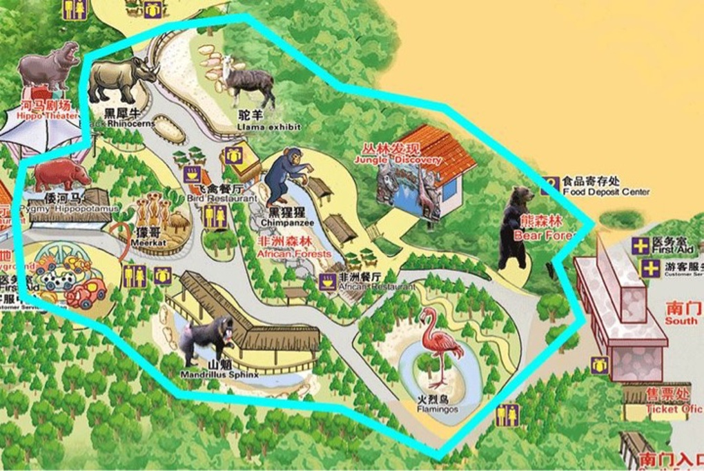长隆野生动物世界旅游导图