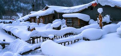 穿越雪谷,放飞在雪乡那冰雪奇缘的梦幻世界~