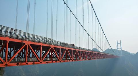 矮寨特大悬索桥的图片