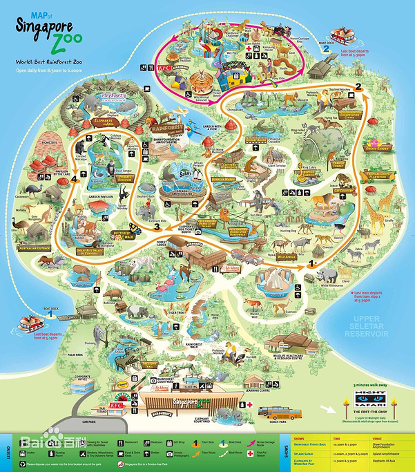 新加坡动物园旅游导图