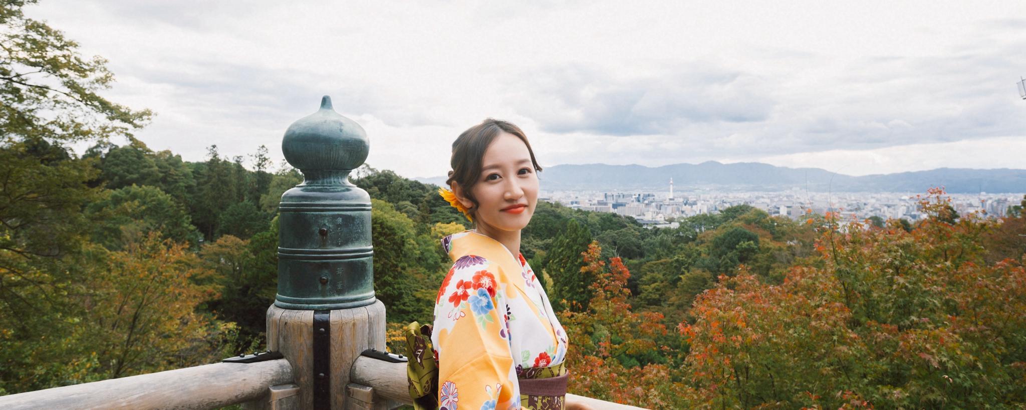 日本旅拍  探寻霓虹枫叶之旅,邂逅最美和服少女