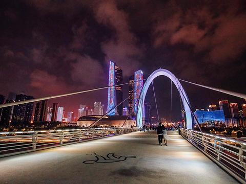 南京眼步行桥旅游景点图片