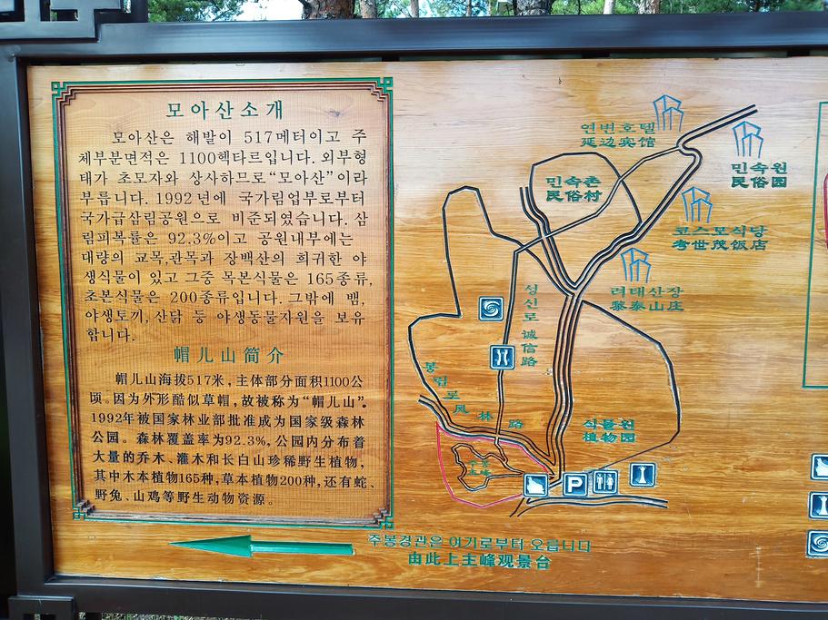 帽儿山国家森林公园旅游导图
