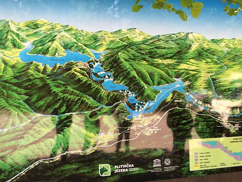 普利特维采湖群国家公园旅游景点攻略图