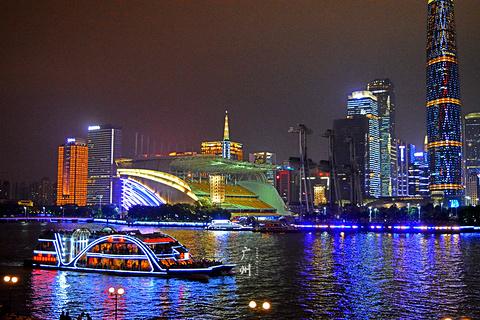 珠江夜游广州塔·中大码头旅游景点攻略图