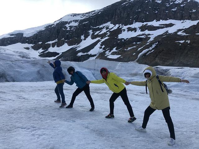 """""""一路向冰川进发,沿途风景稍后再表。有没有想到流浪地球里的冰原车:道路千万条 安全第一条_哥伦比亚冰原""""的评论图片"""