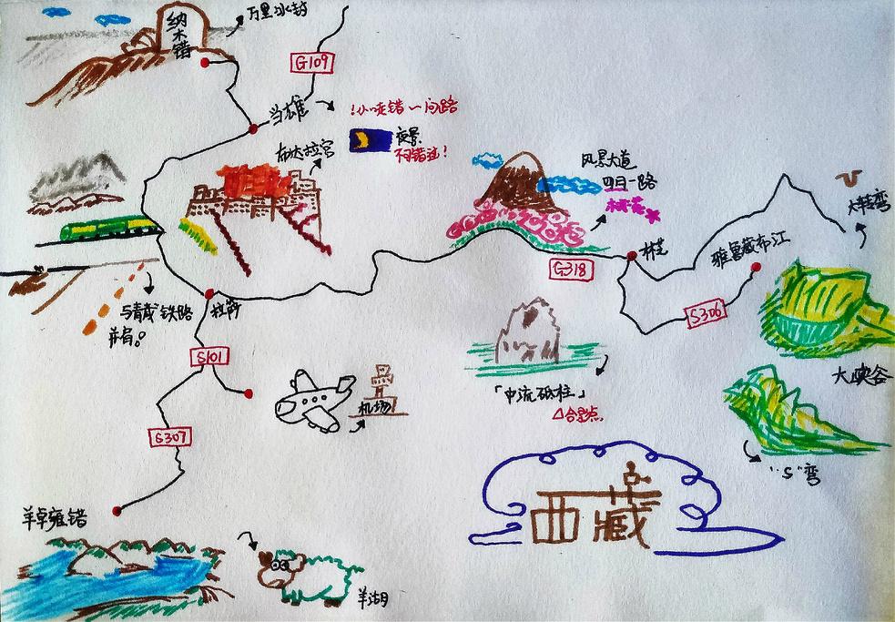 昆仑山旅游导图