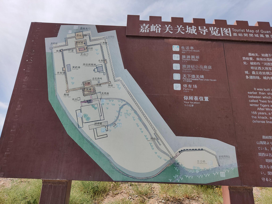 嘉峪关关城旅游导图
