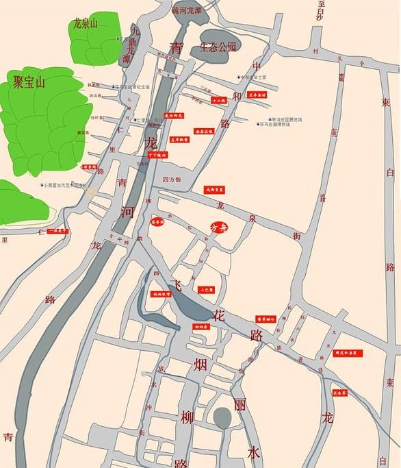 束河古镇旅游导图