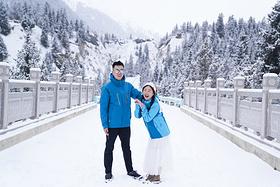 南疆的冬季,行走于天空与白雪之上,一望无际的是自由~