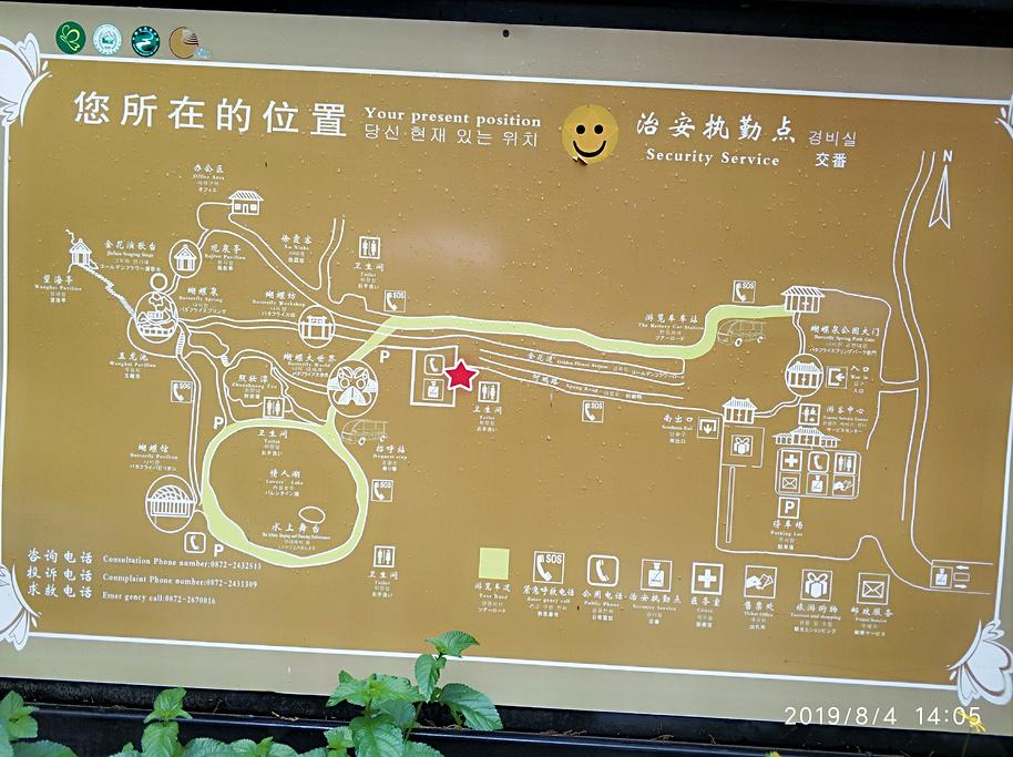 蝴蝶泉旅游导图