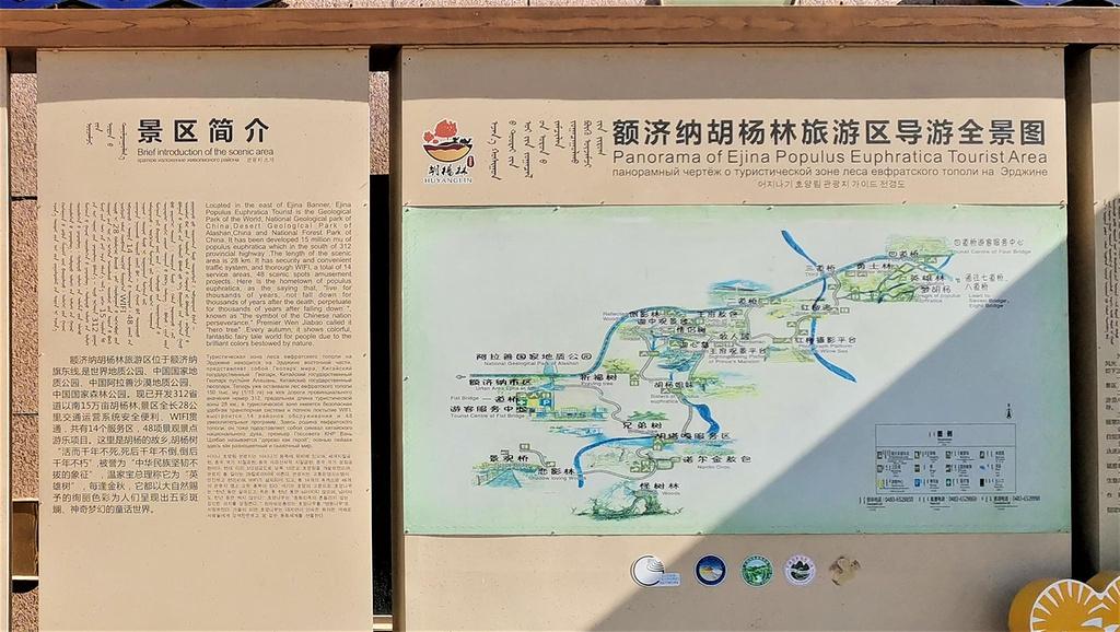 额济纳胡杨林旅游区旅游导图