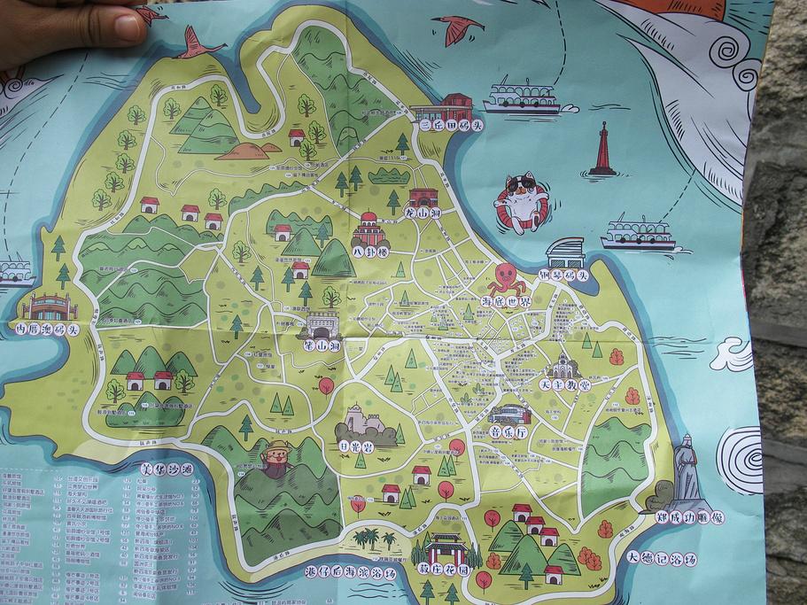 鼓浪屿旅游导图