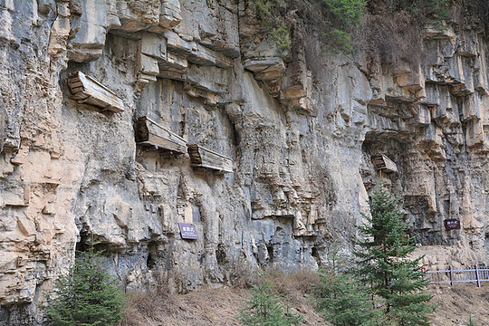 石门悬棺旅游景点图片