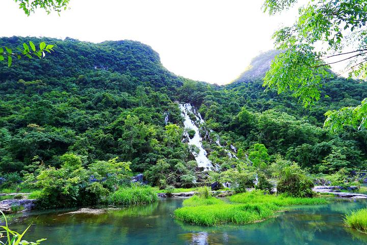 """"""" 虽然跟贵州大多数的瀑布相比,翠谷瀑布好似一个淑女,少了几分霸气,但这恰好造就了它独特的韵味_翠谷瀑布""""的评论图片"""