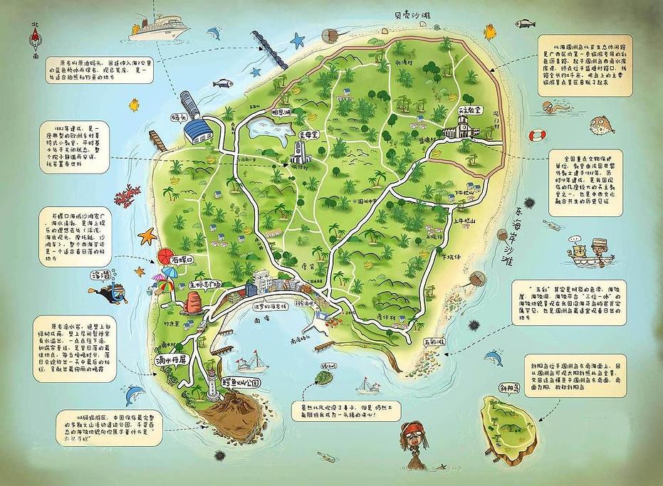 涠洲岛旅游导图