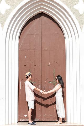 """""""保存完好的西班牙风格建筑与塞班岛美丽的自然环境完美融合,到此的游客无不为之赞叹。来张正面的证件照_卡梅尔山天主教大教堂""""的评论图片"""