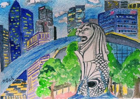 鱼尾狮公园旅游景点攻略图