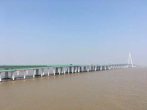 杭州湾大桥海天一洲观光平台旅游景点图片