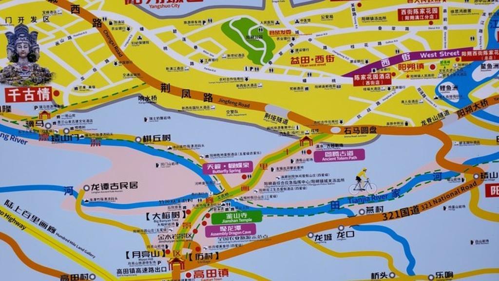 桂林千古情旅游导图