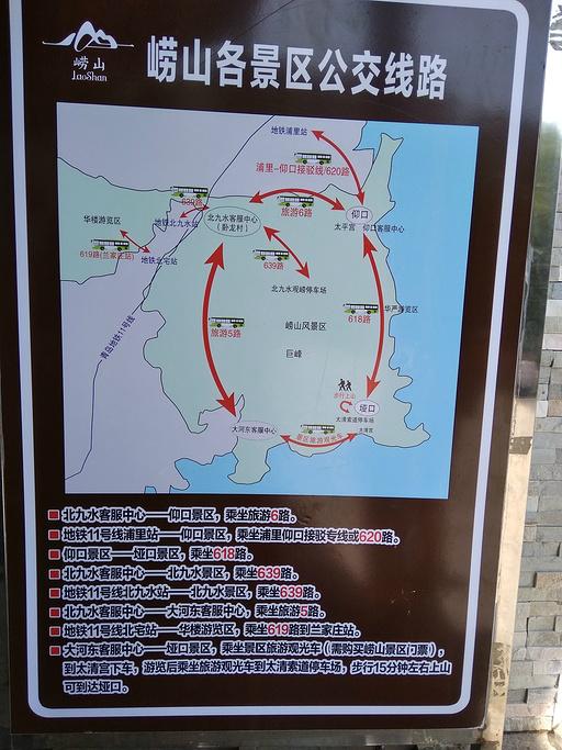 崂山旅游导图