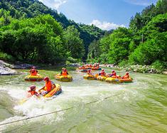 无漂流不夏天距离武汉2小时,来英山桃花冲大峡谷漂流清凉之旅