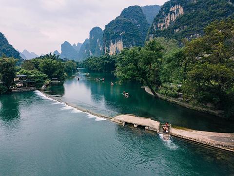 遇龙河漂流的图片